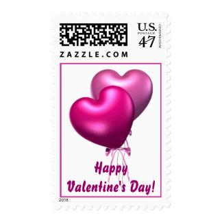 Pink Balloons, Happy Valentine's Day! Postage