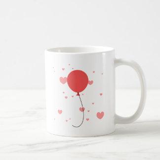 Pink Balloons & Hearts Coffee Mug