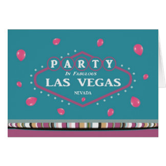 PINK BALLOONS Party In Las Vegas Card