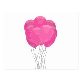 Pink Balloons Postcard