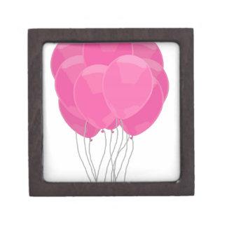 Pink Balloons Premium Keepsake Box