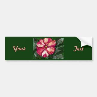 Pink Balsam Flower Car Bumper Sticker