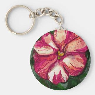 Pink Balsam Flower Keychain
