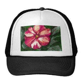 Pink Balsam Flower Trucker Hat