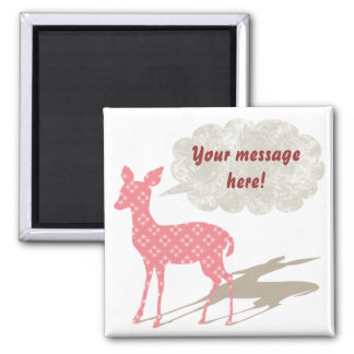 Pink Bambi All Occasions Custom Magnet