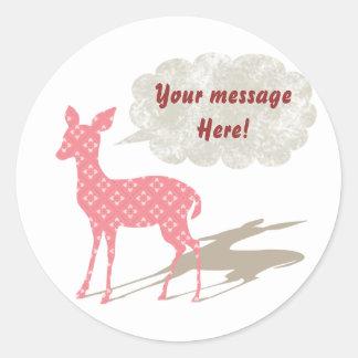 Pink Bambi All Purpose Custom Sticker