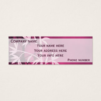 Pink bamboo mini business card