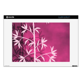 Pink bamboo pink decals for laptops