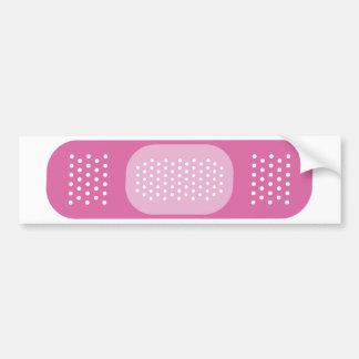 Pink Bandage Bumper Sticker