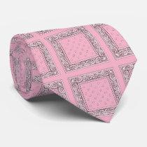 Pink Bandana Print Neck Tie
