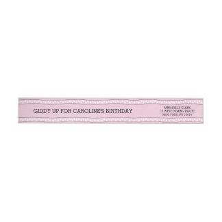 Pink Bandana | Return Address Wrap Wrap Around Label