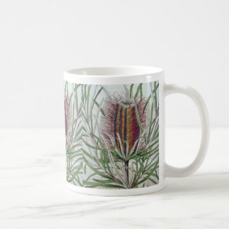 Pink Banksia occidentalis flowers Classic White Coffee Mug