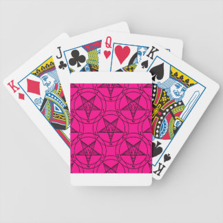 pink baphomet bicycle playing cards