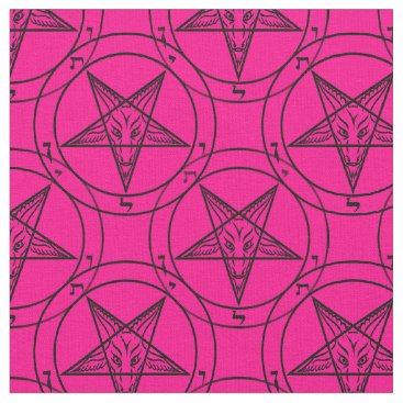 Halloween Themed pink baphomet fabric