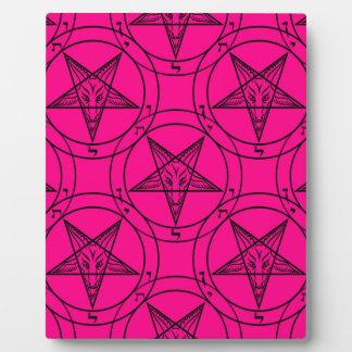 pink baphomet plaque