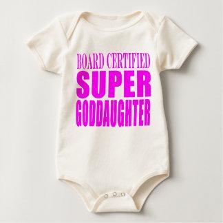 Pink Baptisms & Birthdays : Super Goddaughter Baby Creeper