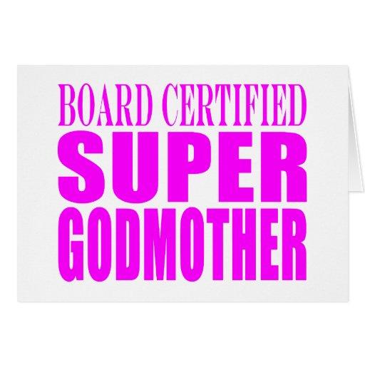 Pink Baptisms & Birthdays : Super Godmother Cards