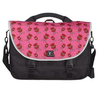 pink barbeque pattern computer bag