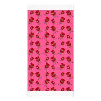 pink barbeque pattern picture card