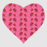 pink barbeque pattern sticker