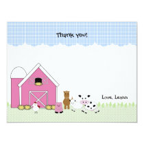 Pink Barn Farm birthday thank you notes Card