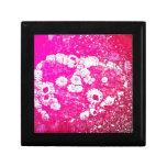 Pink Barnacle Heart Trinket Box
