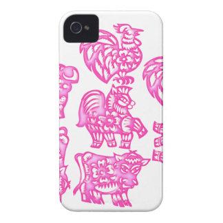 Pink Barnyard Animal Fun iphone 4 case