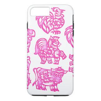 Pink Barnyard Animal Fun iPhone 8 Plus/7 Plus Case
