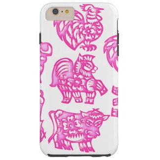 Pink Barnyard Animal Fun Tough iPhone 6 Plus Case