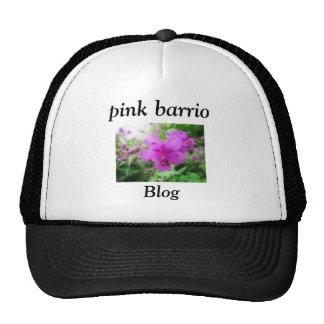 pink barrio trucker hat