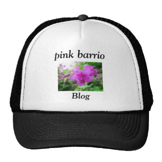 pink barrio trucker hat