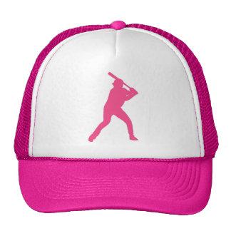 Pink baseball player simple hat