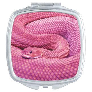 Pink Basilisk Rattlesnake Compact Mirror