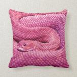 Pink Basilisk Rattlesnake Pillow