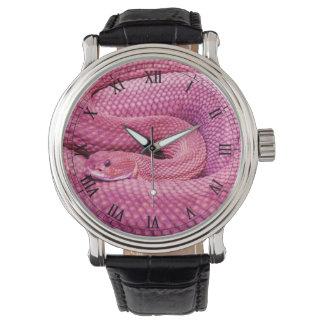 Pink Basilisk Rattlesnake Watch