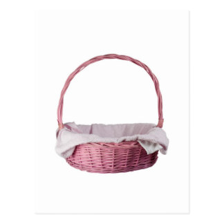 Pink basket post card