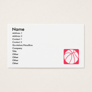 Pink basketball business card