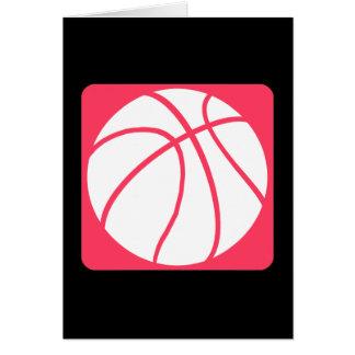 Pink basketball card