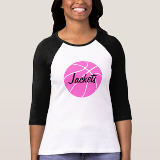 Pink Basketball Custom 3/4 Sleeve T-shirt