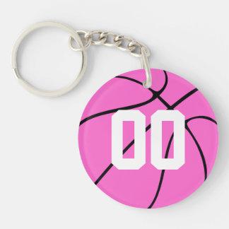 Pink Basketball Custom Key Chain