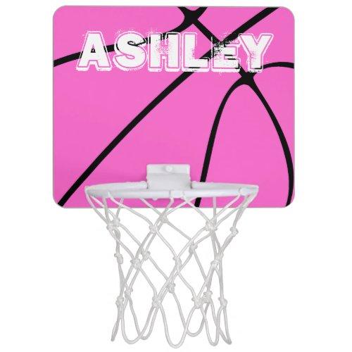 Pink Basketball Cute Mini Basketball Hoop