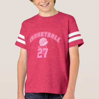 Pink Basketball | DIY Name and Number T-Shirt