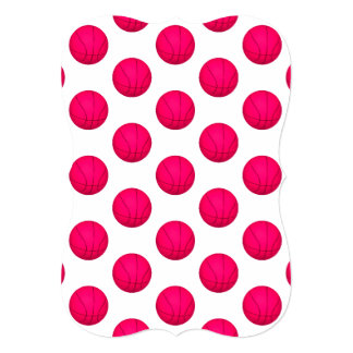 Pink Basketball Pattern Card