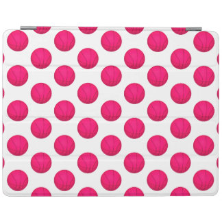 Pink Basketball Pattern iPad Cover