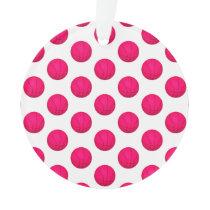 Pink Basketball Pattern Ornament
