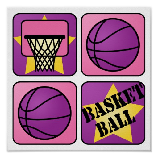 PInk Basketball Posters