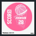 """Pink Basketball Score Wall Decal<br><div class=""""desc"""">Pink Basketball Score Wall Decal. A great wall decal for the basketball lovers in your life. Made with high resolution vector and/or digital graphics for a professional print. NOTE: (THIS IS A PRINT. All zazzle product designs are &quot;prints&quot; unless otherwise stated under &quot;About This Product&quot; area) The design will be...</div>"""