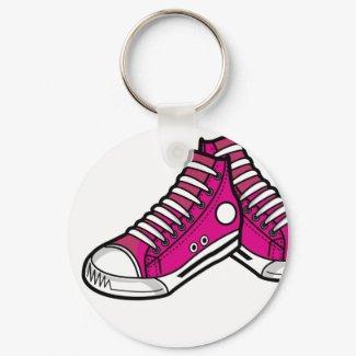 Pink Basketball Sneaker Keychain keychain