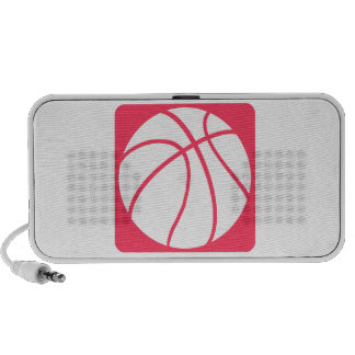 Pink basketball portable speakers