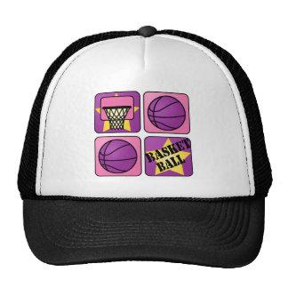 PInk Basketball Trucker Hat